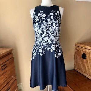 Donna Morgan Navy/White Dress